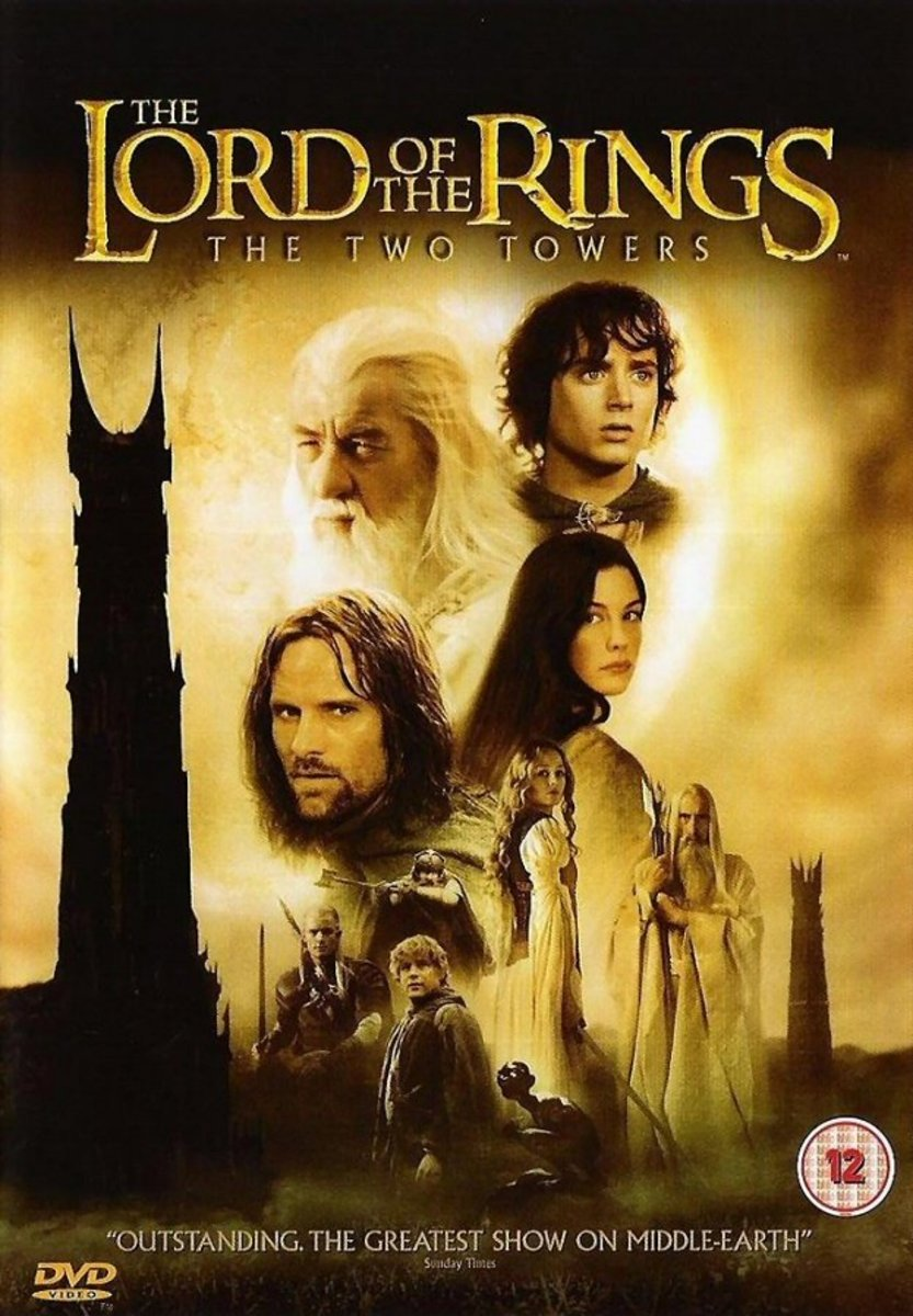 """DVD cover for """"The Lord Of The Rings: The Two Towers"""""""