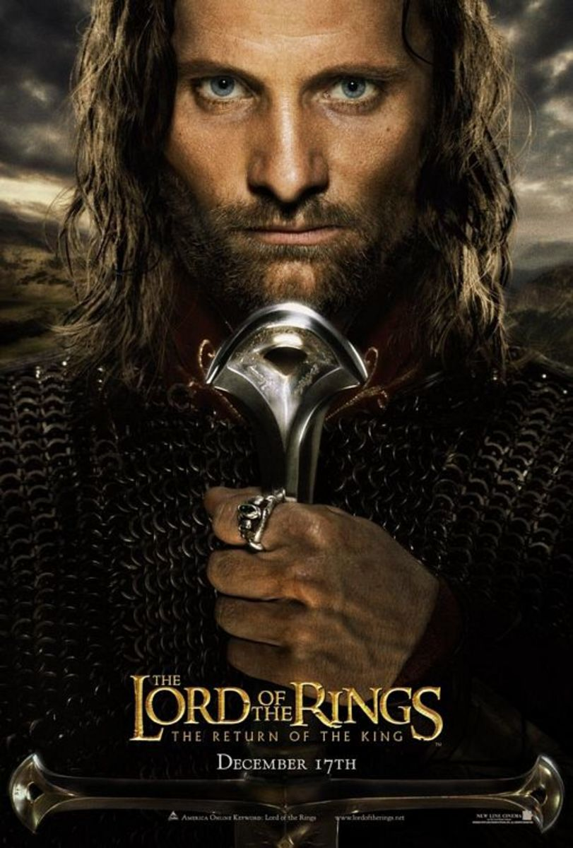 "Promo poster for ""The Lord Of The Rings: The Return Of The King"" featuring Aragorn"