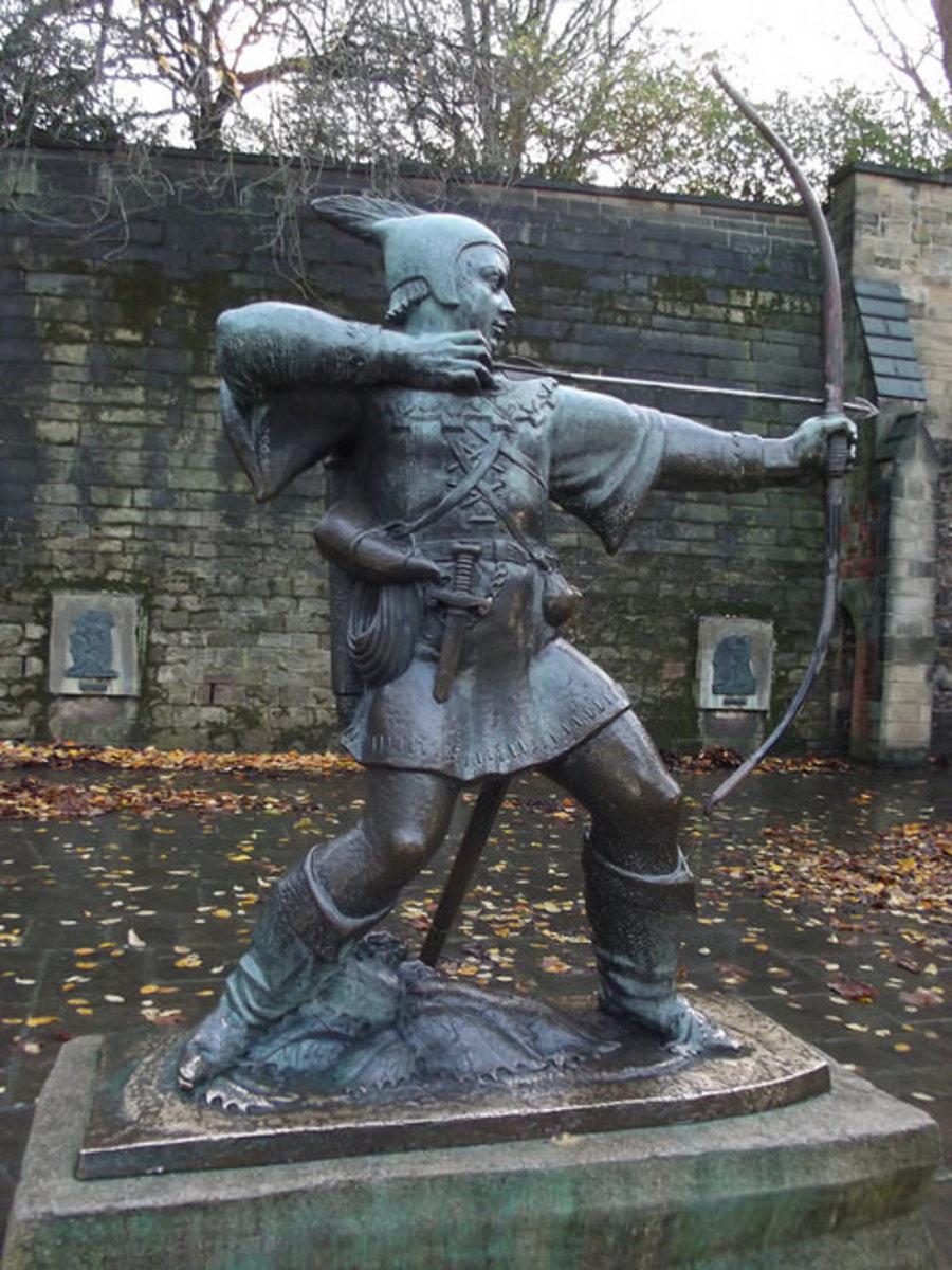 Statue of Robin Hood at Nottingham Castle