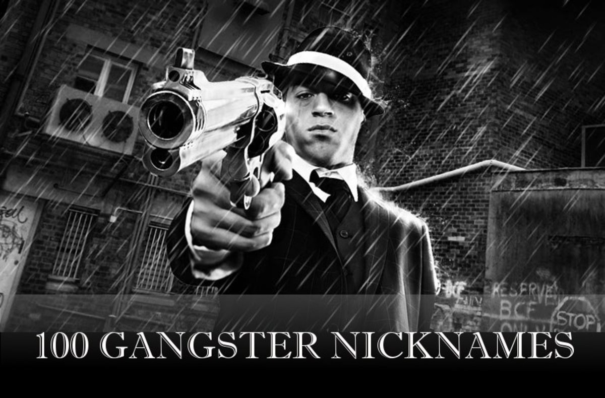 100 Gangster Nicknames for Guys and Girls