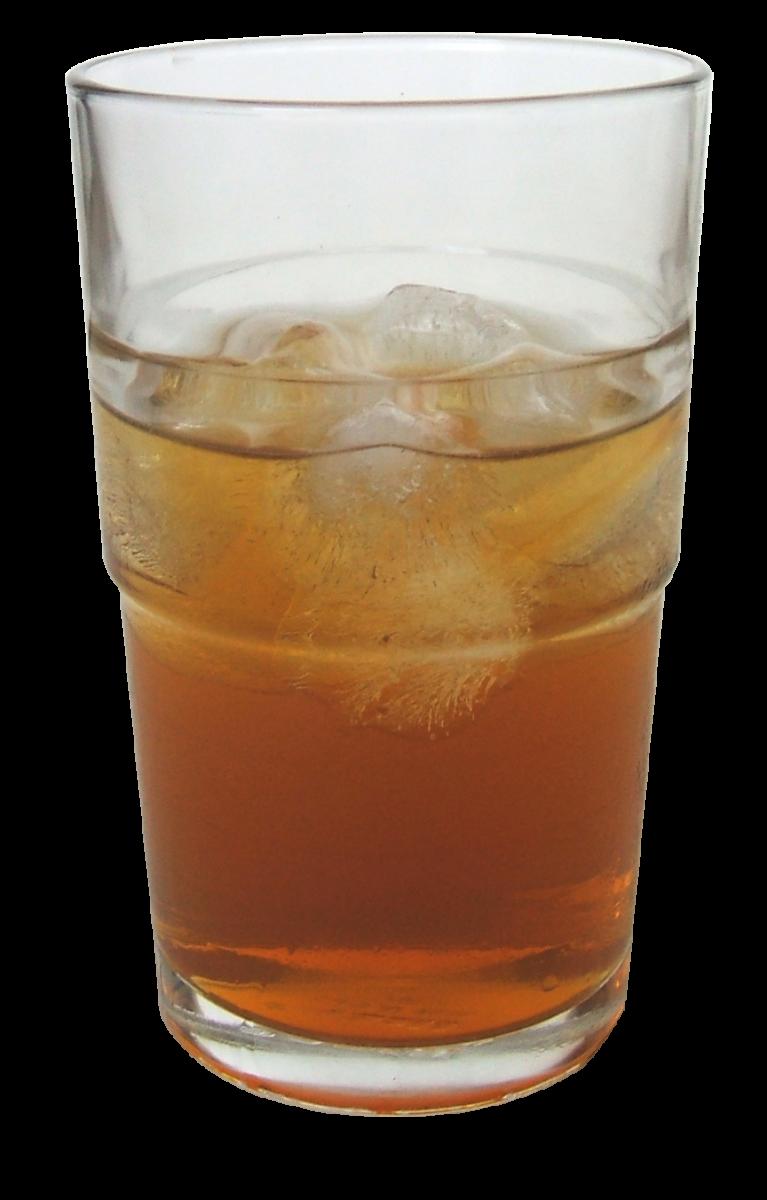 A refreshing glass of kombucha made from black tea