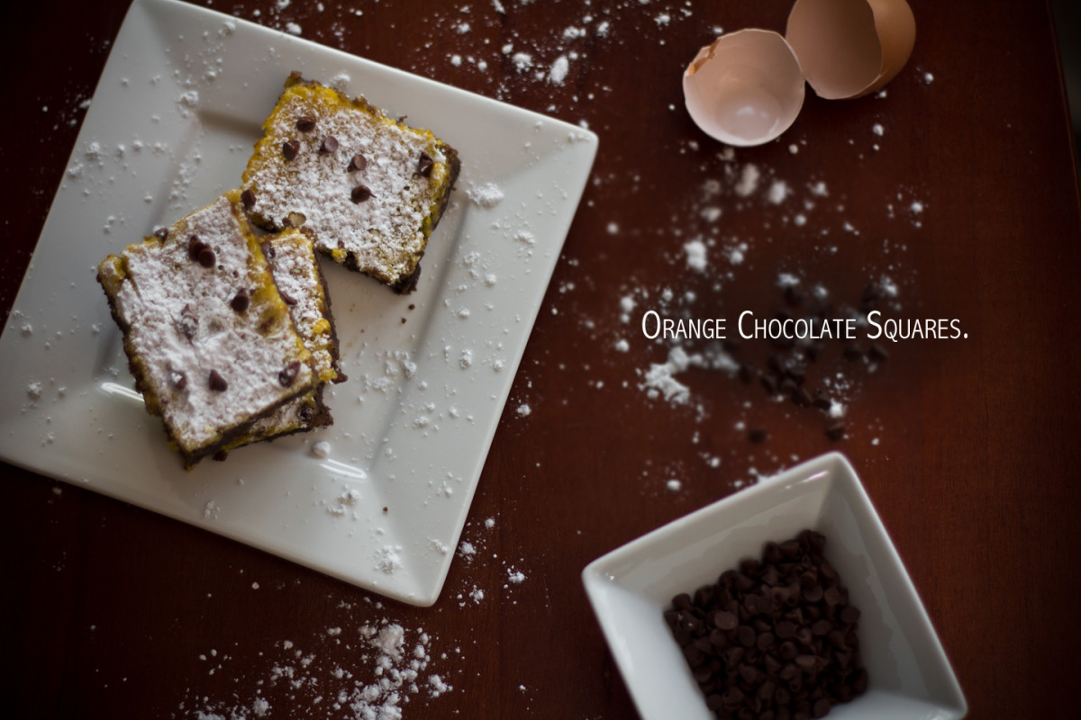 Orange Chocolate Squares Recipe