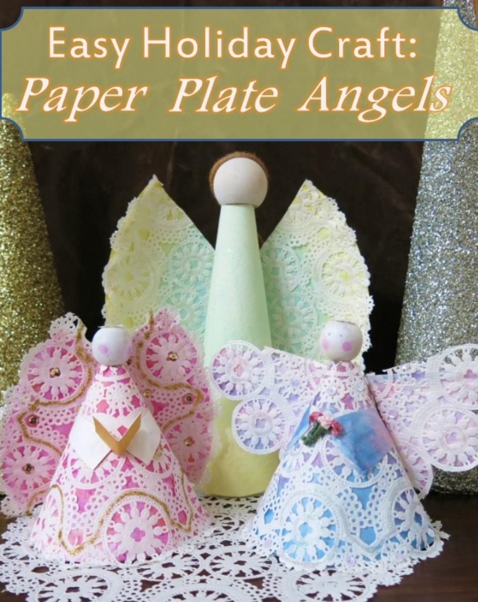 Easy Christmas Craft How To Make A Paper Plate Angel Feltmagnet