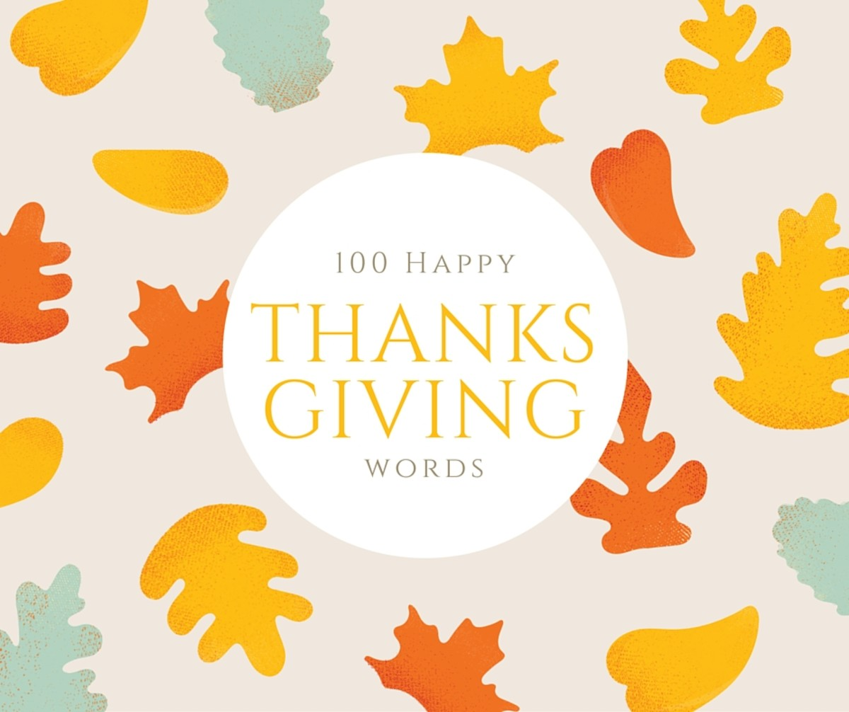 100 Happy Thanksgiving Vocabulary Words and Phrases
