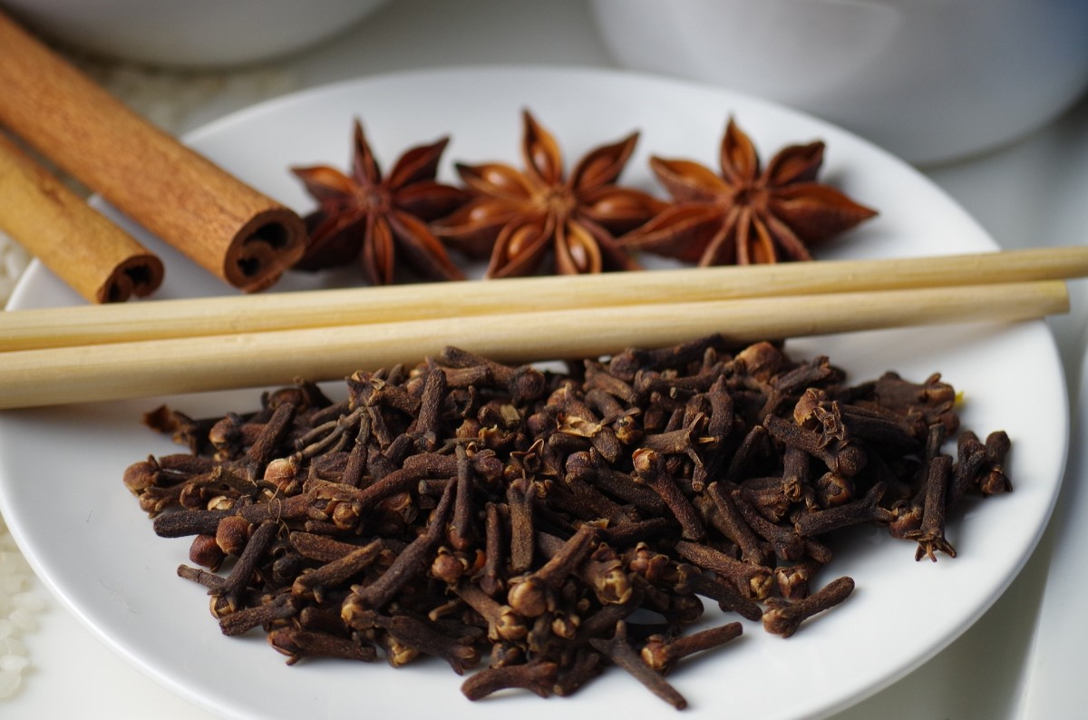 Cloves, cinnamon, and star anise are components of a spice blend called Chinese Five Spice.