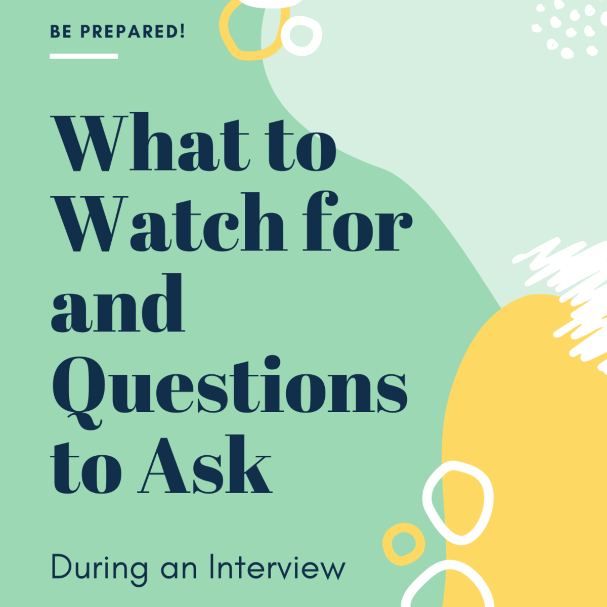 Here are some things to consider and questions to ask during an interview.
