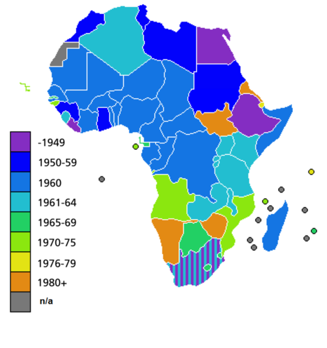 African Nations' Post-WWII Struggle for Independence