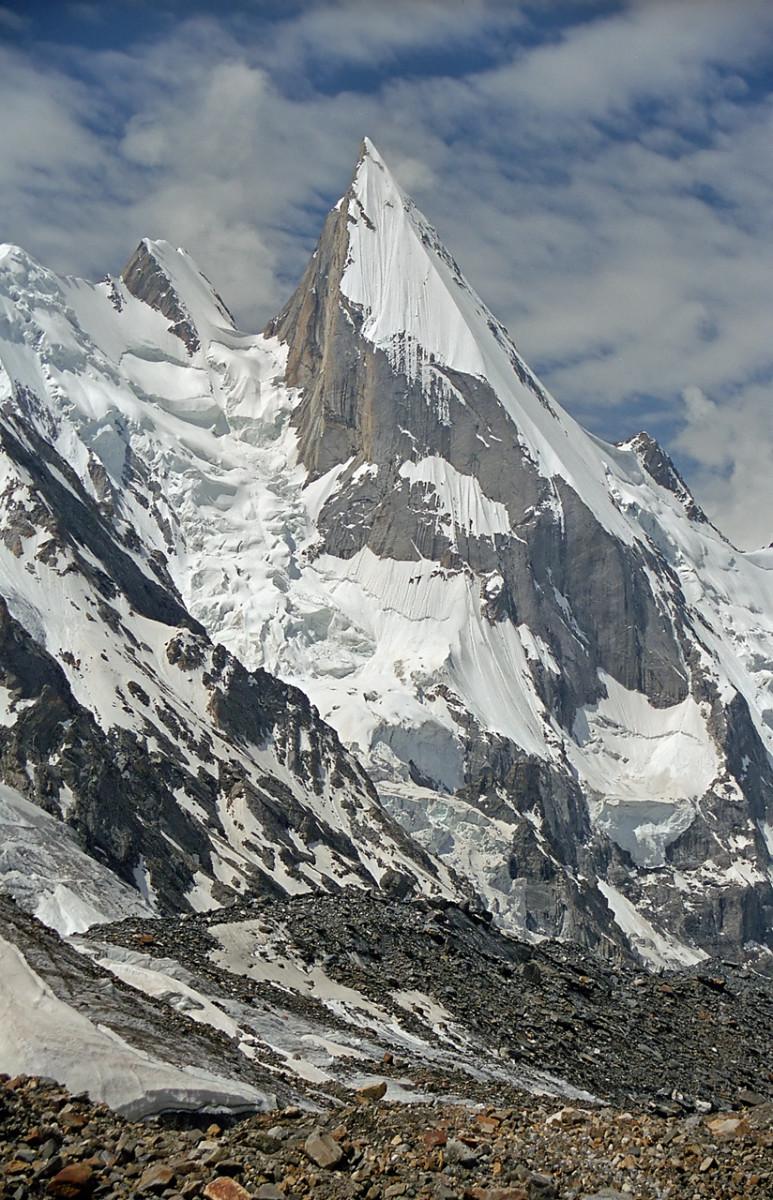 Laila Peak (Hushe Valley), 6096 m, (Gondogoro Glacier Area, Central Karakoram, Pakistan)