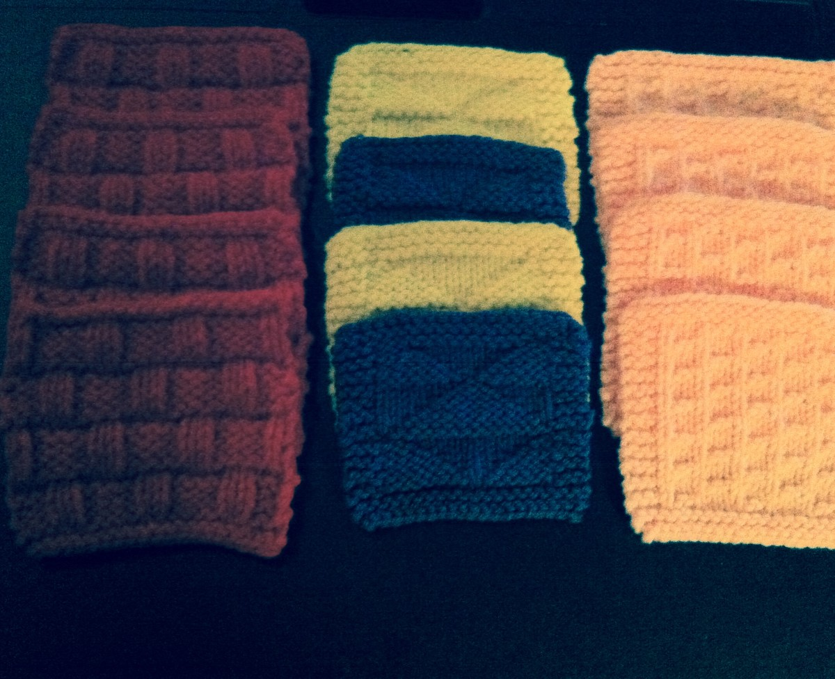Free Coaster Patterns: 3 Easy Knit & Purl Starter Coasters - Pt 2