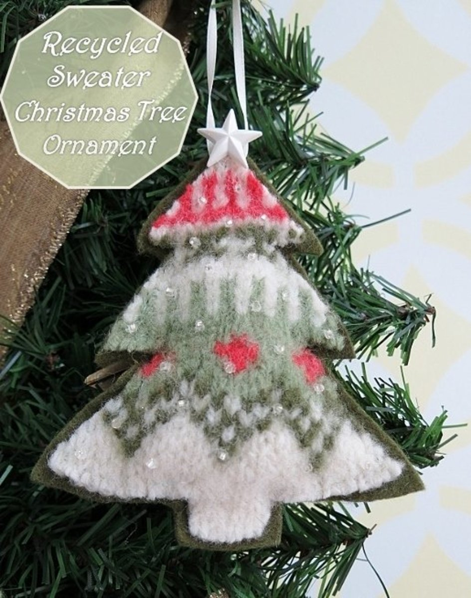 DIY Craft Tutorial: How to Turn an Old Sweater Into a Christmas Tree Ornament