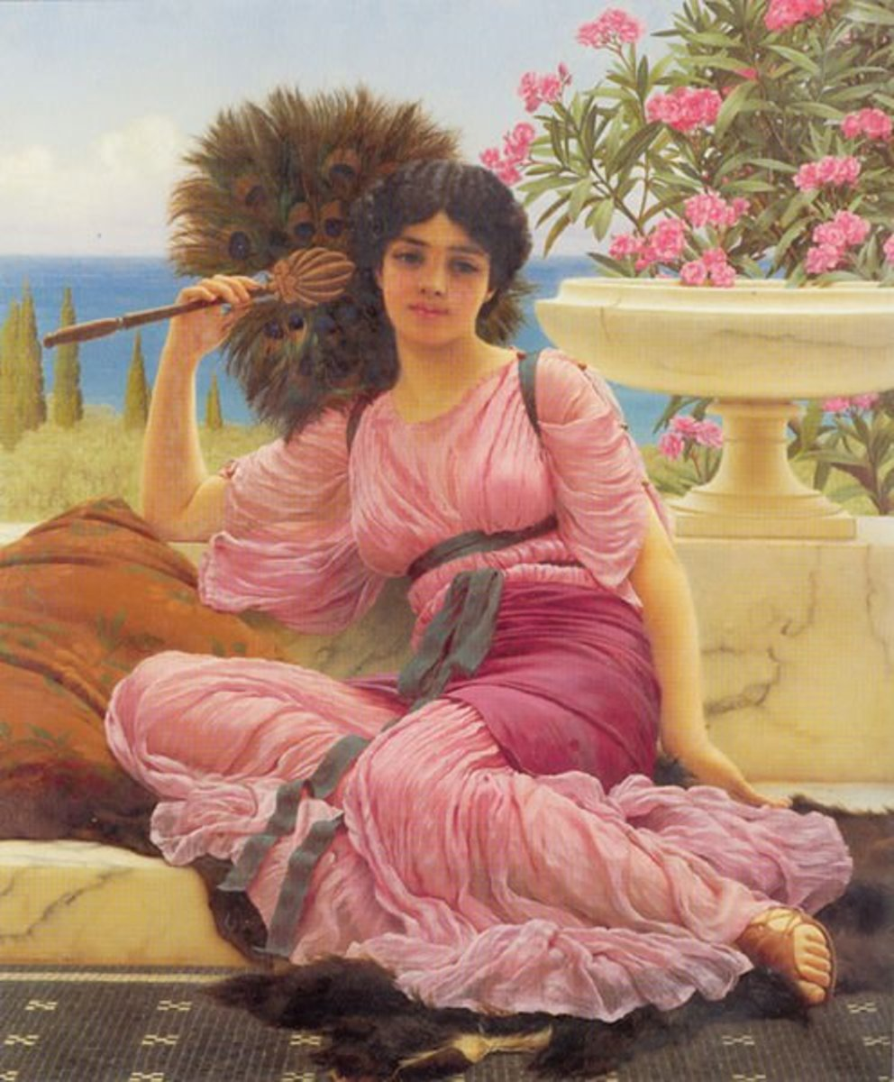 A Roman woman portrayed by John William Godward