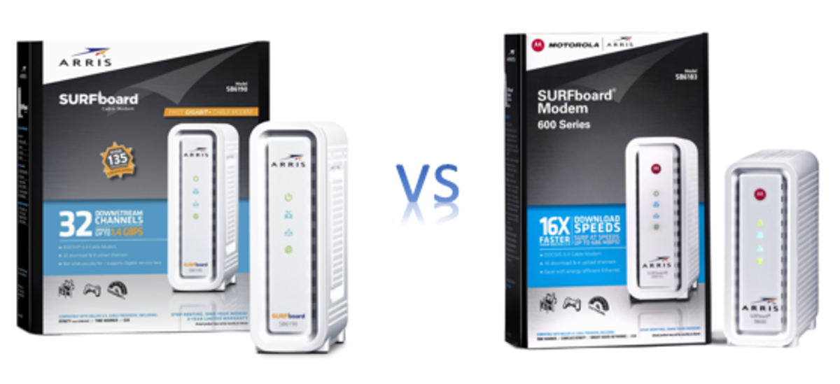 Arris Motorola SB6190 vs SB6183 - Which to get?