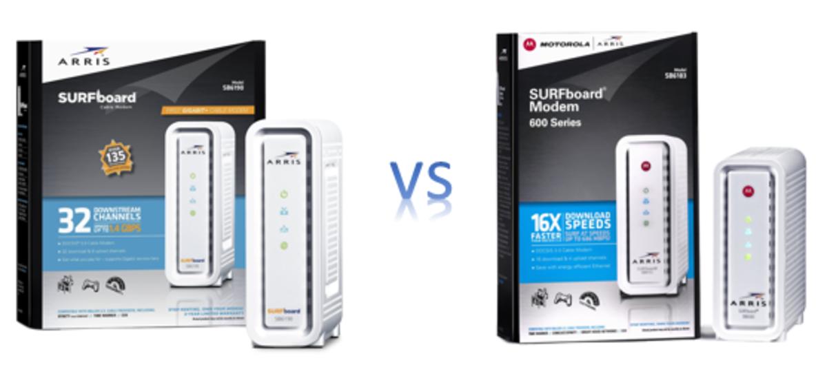 Arris Motorola SB6190 vs SB6183