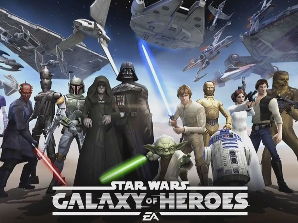 Characters from Galaxy of Heroes