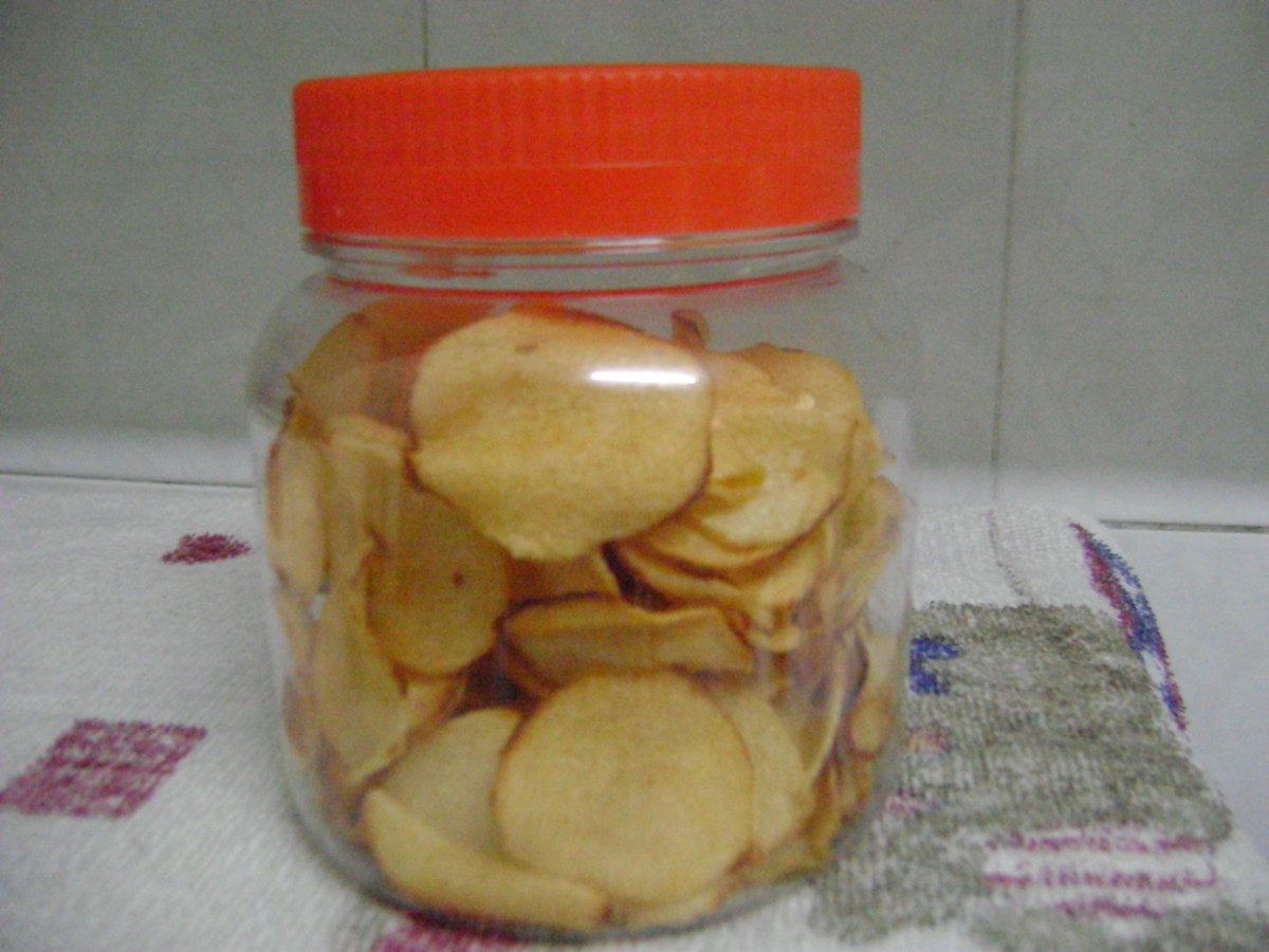 How to Fry Arrowhead (Ngaku) Chips