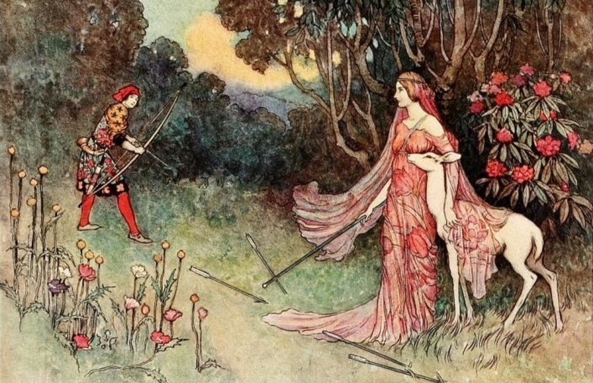 Fairytale illustration by Warwick Goble