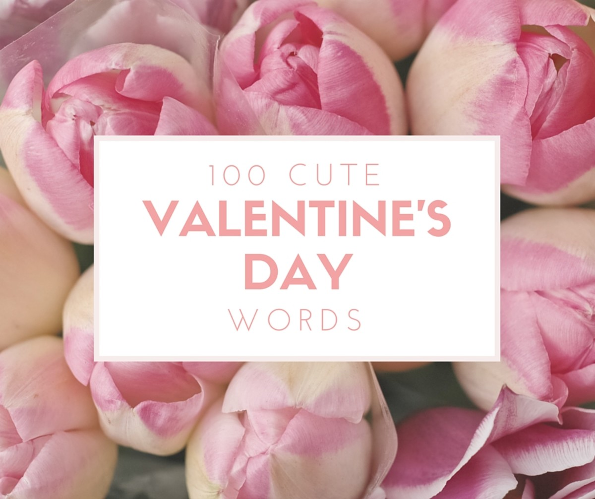 List of 100 Cute Valentine's Day Words for Games and Crafts