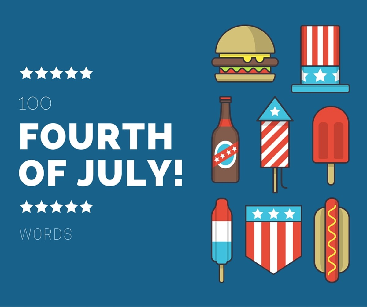 July 4th is a great holiday for games. Play some Independence Day-themed word games this year with friends or family.