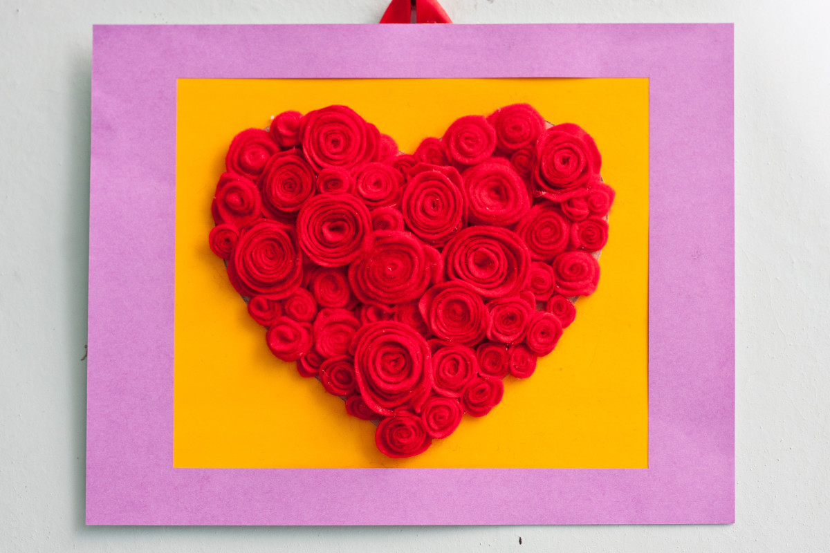 Learn how to make the rose heart craft project!