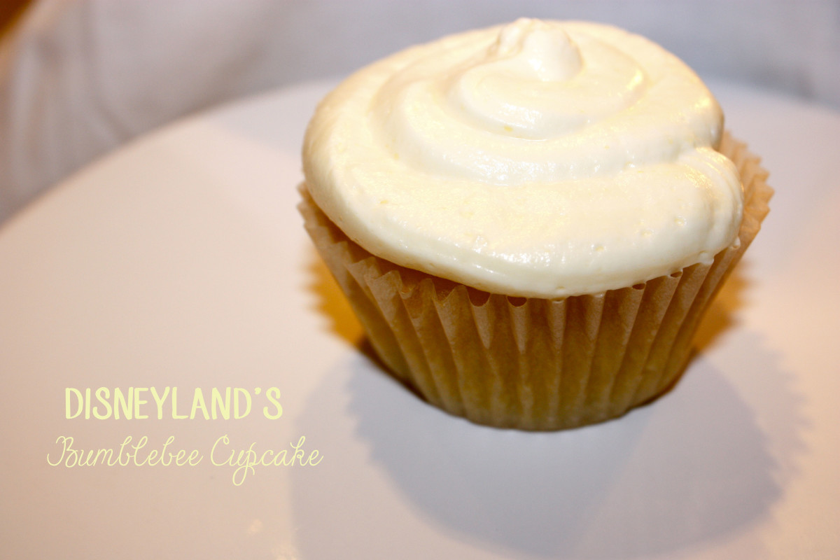 Disneyland's Bumblebee Cupcake