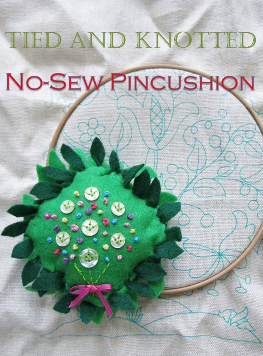 DIY Craft Tutorial: How to Make a Tied and Knotted No-Sew Pincushion