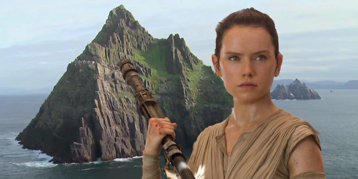 Rey and Luke's island