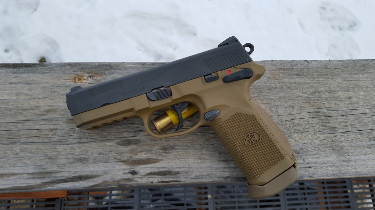 Left side shot of the FNX45
