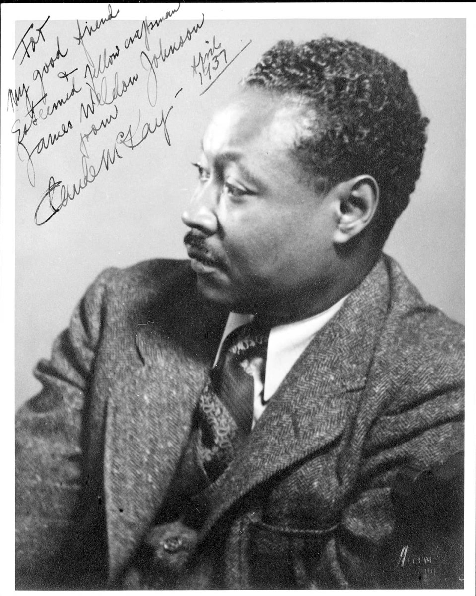 """For My good friend & Esteemed fellow craftsman James Weldon Johnson from Claude McKay - April 1937"""