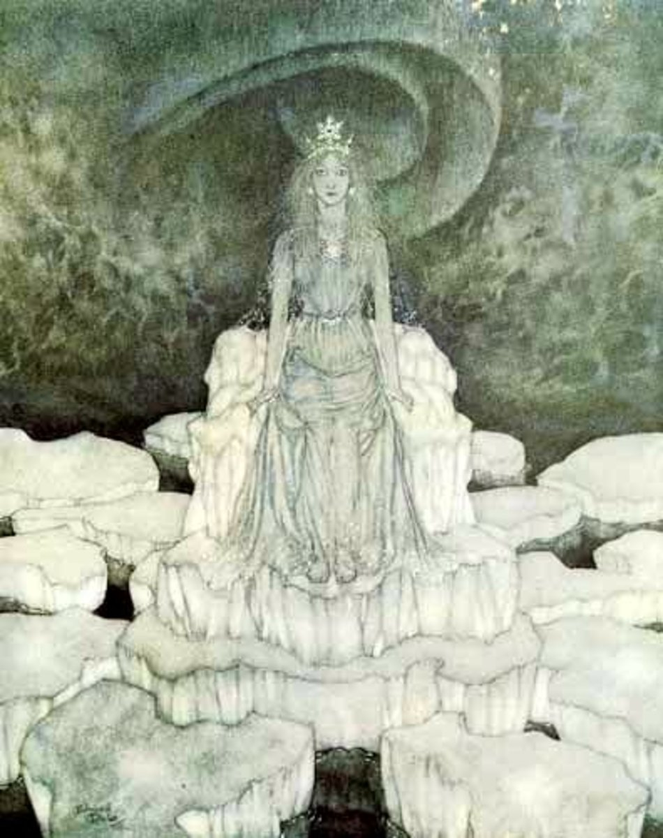 Illustration of The Snow Queen by Edmund Dulac.