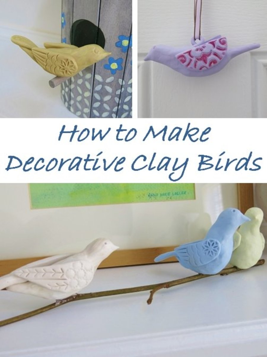 DIY Craft Tutorial:  How to Make Decorative Clay Birds
