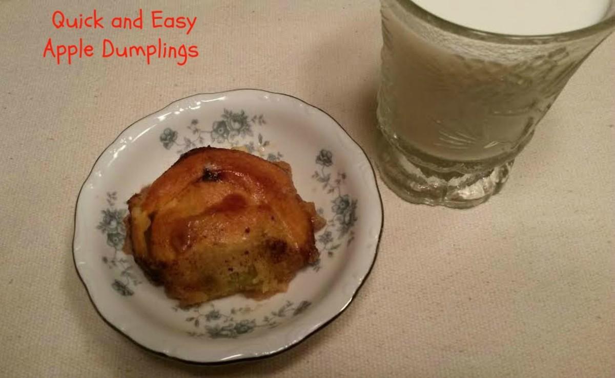 Apple Dumplings made with Mountain Dew soda.