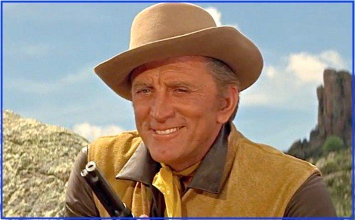 "Kirk Douglas in ""The War Wagon."""