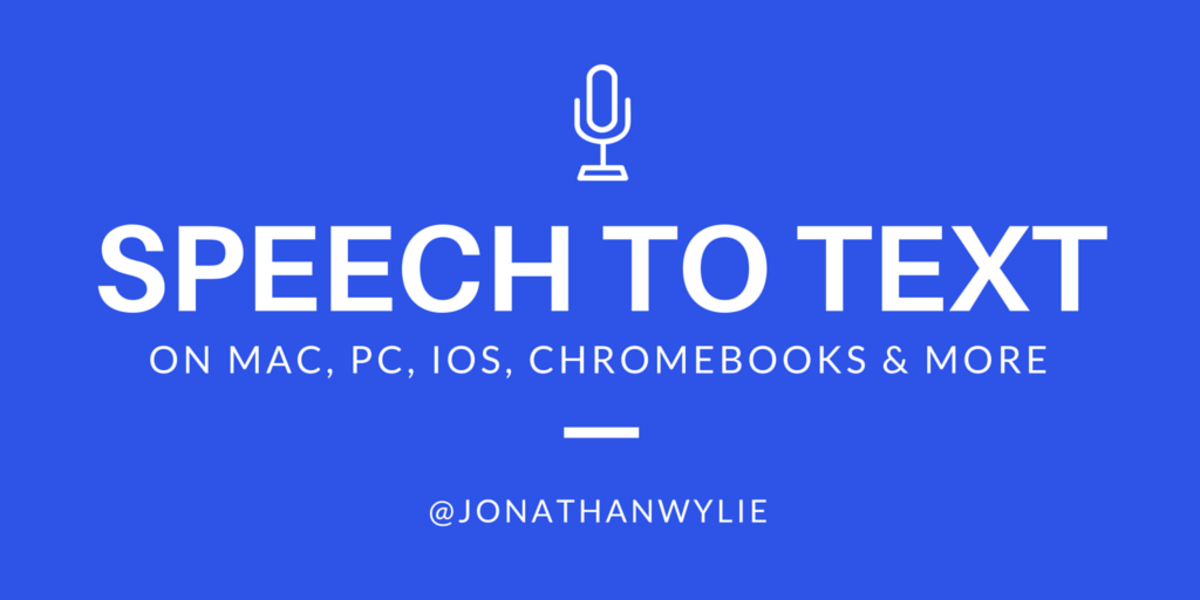 There are many great speech-to-text options built in to most phones and computers.