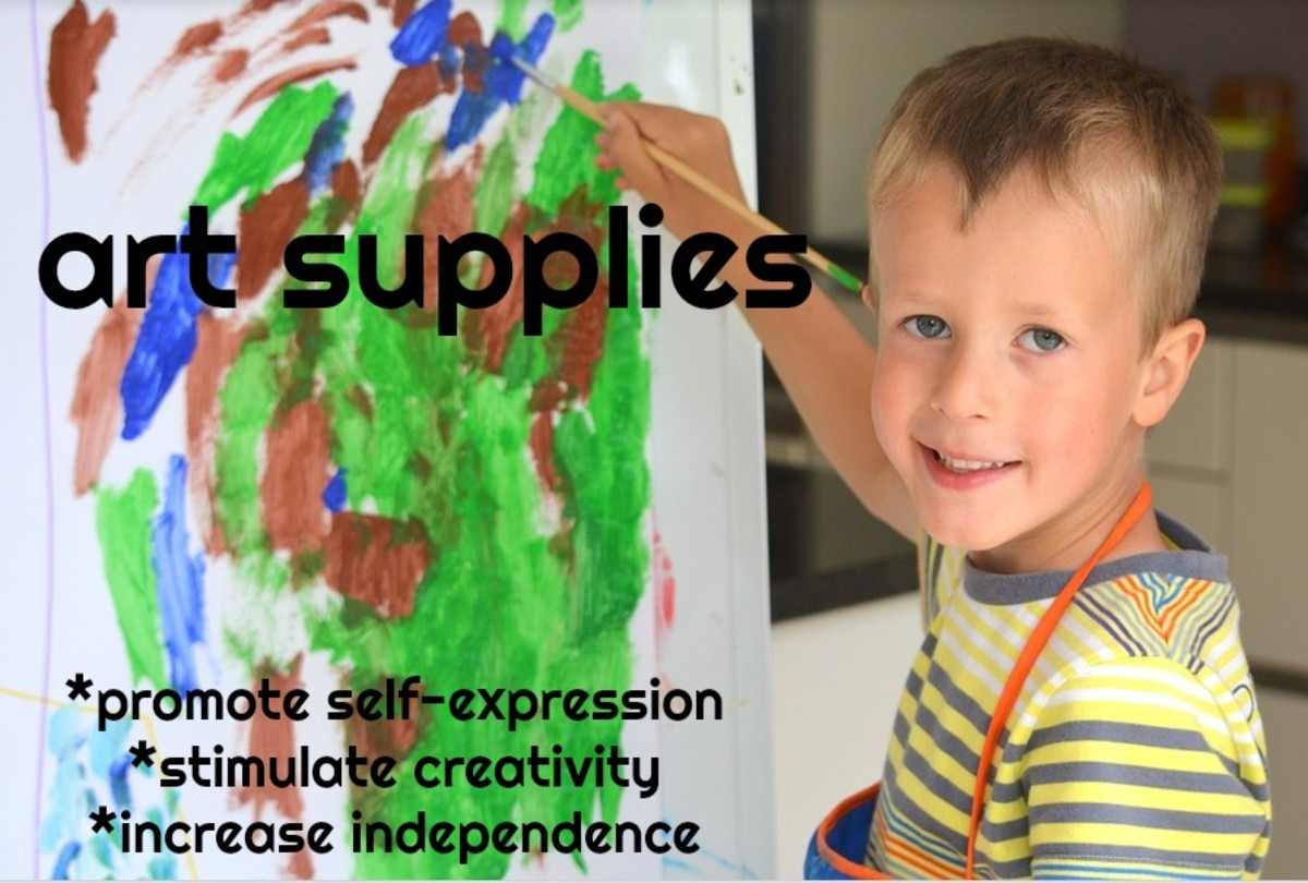 Preschoolers don't need expensive STEM toys, but they do need plenty of art materials to stimulate their creativity: paints, brushes, paper, markers, chalk, colored pencils, and crayons.