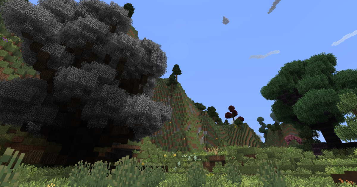 "BigTrees in action on ""Minecraft."""