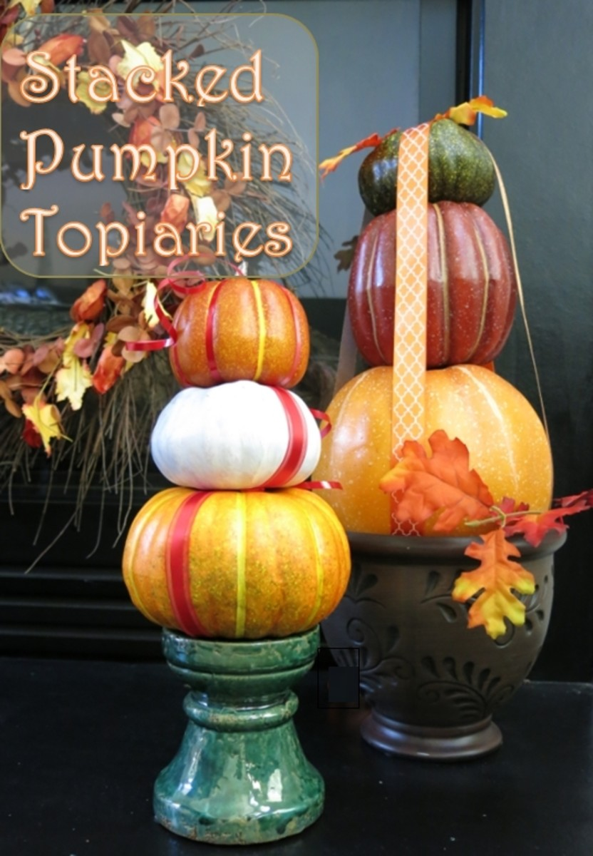 How to Make a Stacked Pumpkin Decoration for Fall