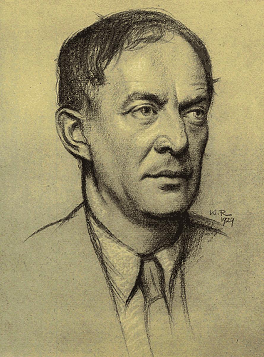 Sketch of Walter de la Mare