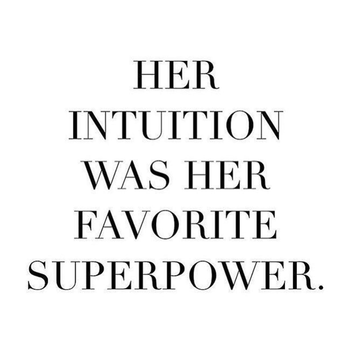 using your intuition