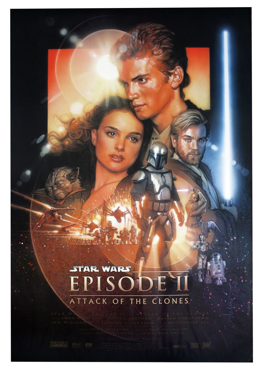 "Poster for ""Star Wars: Episode II - Attack Of The Clones"""
