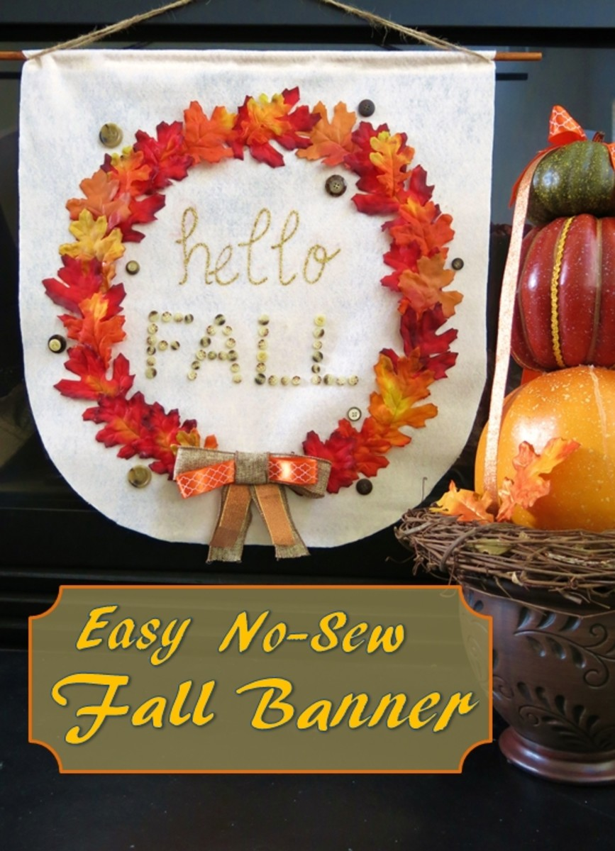 DIY Craft Tutorial:  How to Make an Easy No-Sew Fall Banner for Your Home