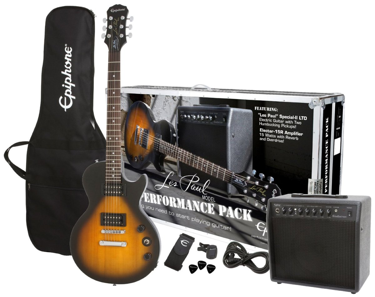 When it comes to Epiphone Les Pauls for beginners an Epi starter kit is a smart choice.