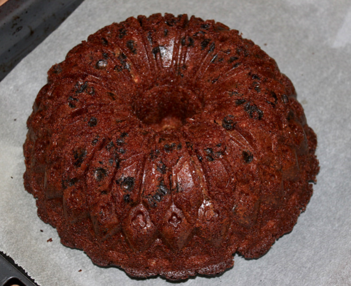 This is my favorite bundt cake recipe. The prunes take it to a new level!