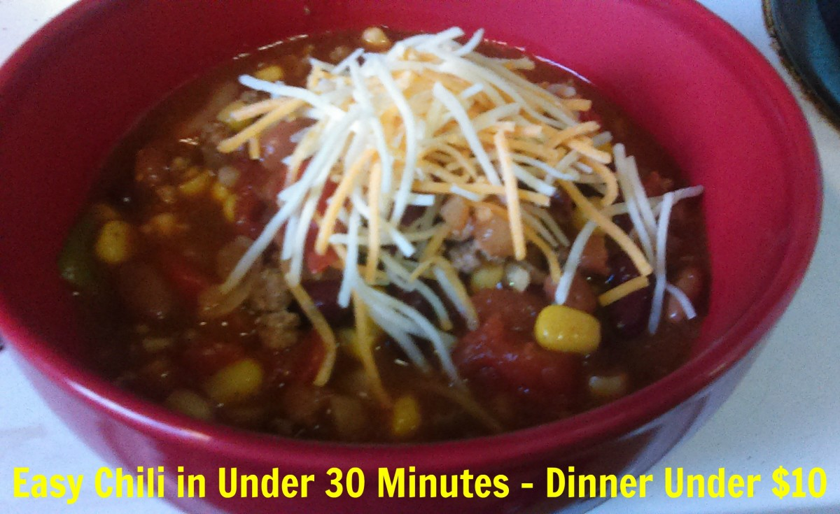 Work Night Fast and Easy Chili - Dinner Under $10