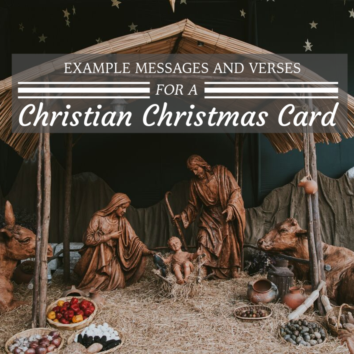 Adding a bible verse or religious sentiment to your Christmas card is a great way to remember the holiday's legendary origin.