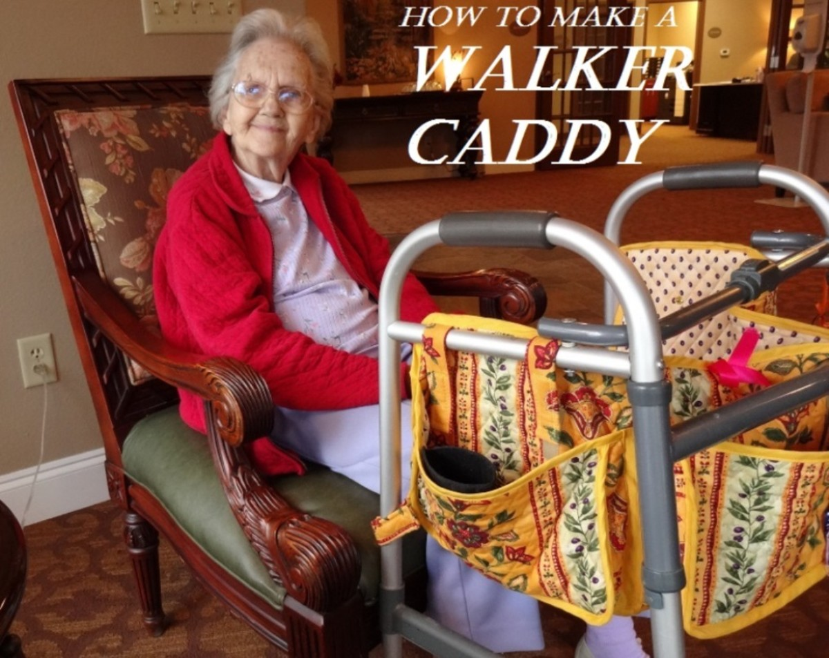 How to Make a Walker Caddy - Photos and Instructions for Sewing