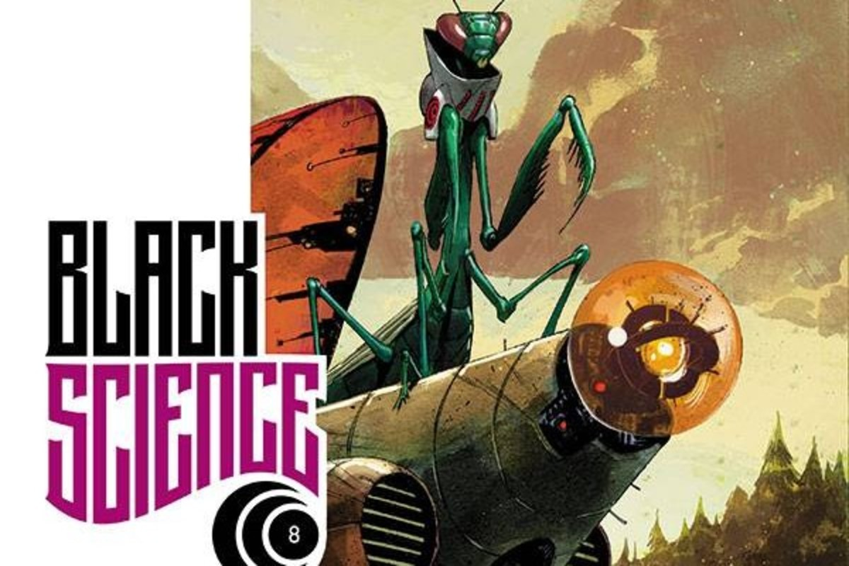 Partial cover images of Black Science, Issue 8