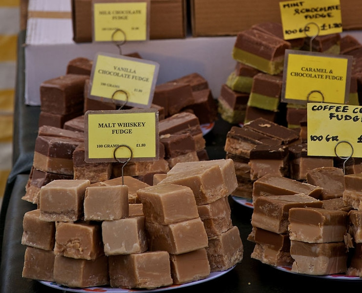 Fudge in a variety of flavors makes a popular holiday gift.