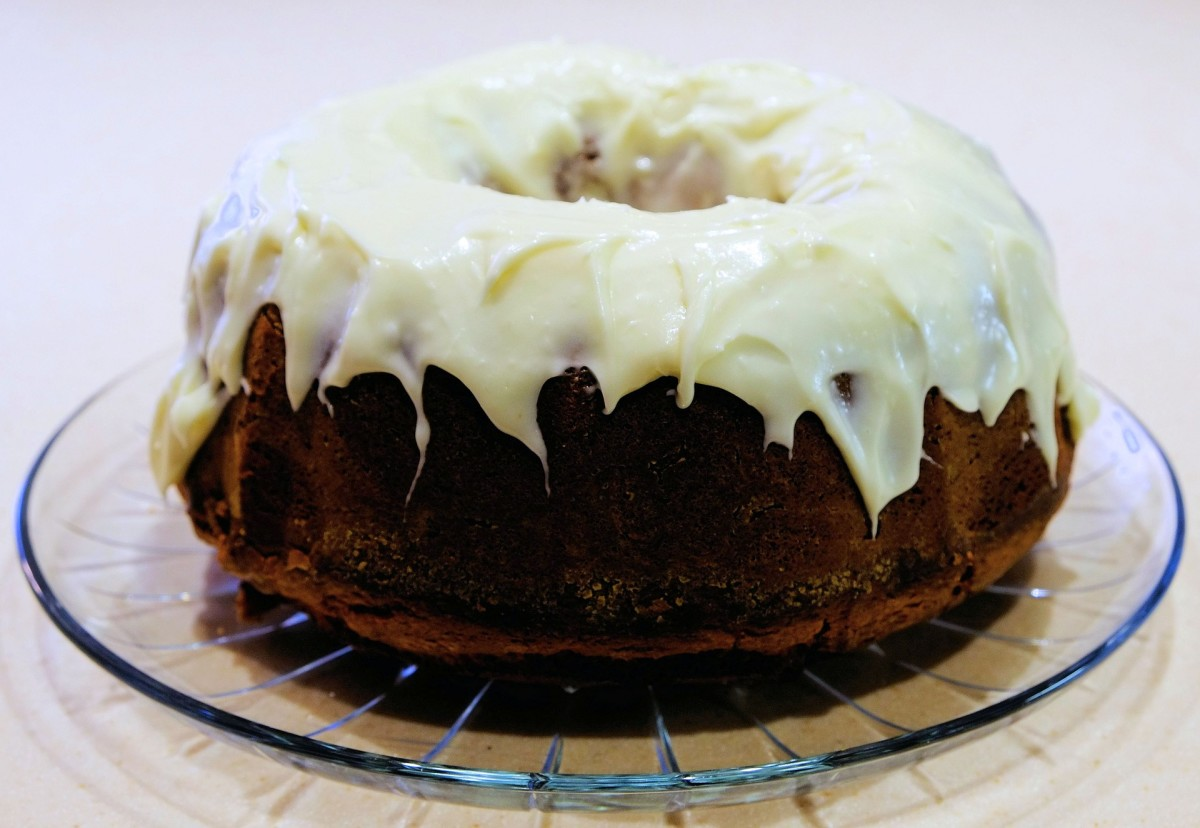 Thanksgiving pumpkin spice cake with maple frosting