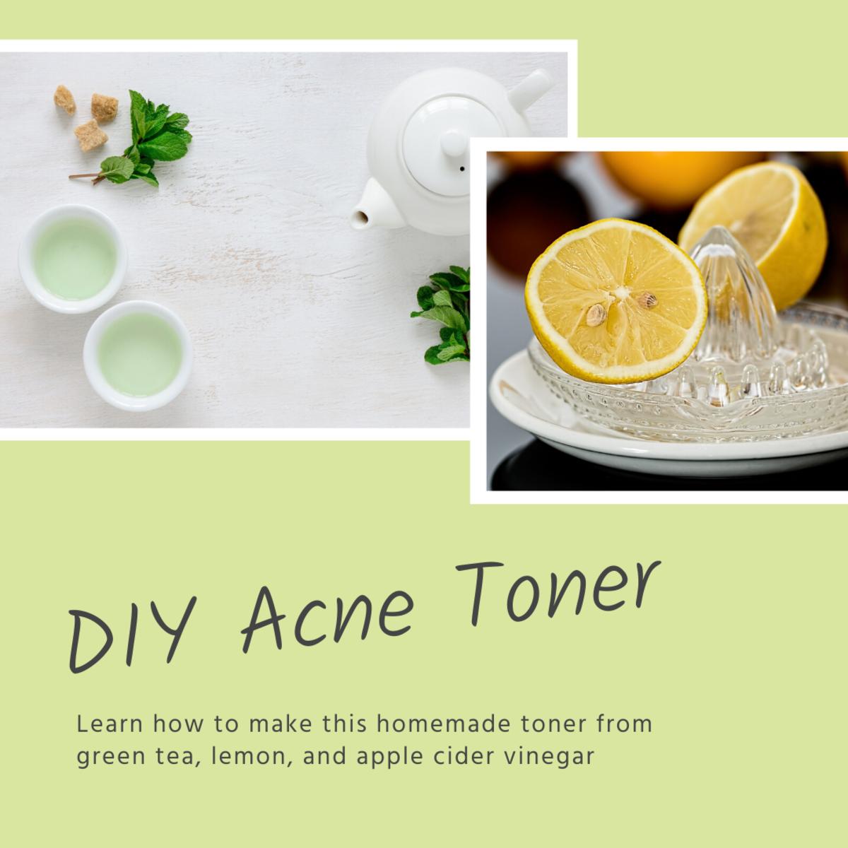 DIY Green Tea and Lemon Acne Toner