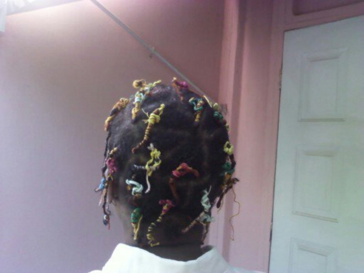 African threading on thin hair /4b/4c Natural Hair
